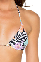 BUENA VISTA - Triangle Top & Wavey Ruched Back Brazilian Tie Side Bottom • Multicolor