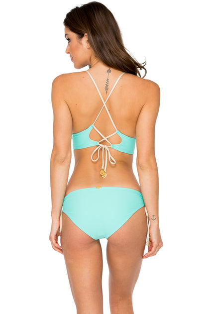 BUENA VISTA - Drawstring Halter Top & Drawstring Side Full Bottom • Agua Dulce