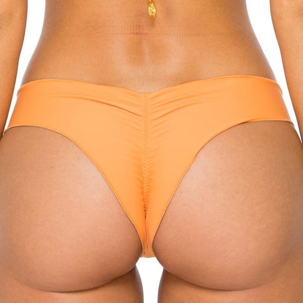 BUENA VISTA - Drawstring Ruched Brazilian Bottom