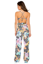 BUENA VISTA - Drawstring Bralette Top & Paper Bag Pants • Multicolor