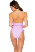 BUENA VISTA - Drawstring High Leg One Piece • Lavanda