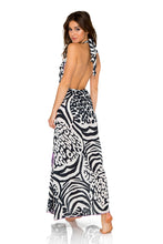 BUENA VISTA - Deep Plunge Long Dress • Multicolor