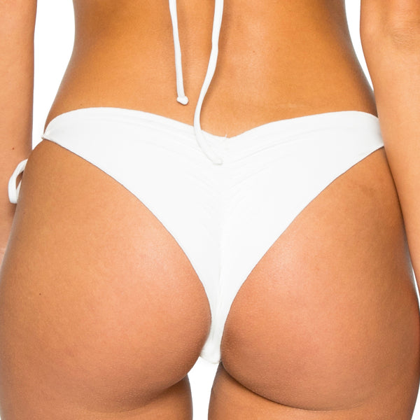 LA CABAÑA - Wavey Ruched Back Brazilian Tie Side Bottom