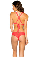 LA CABAÑA - Halter Top & Scrunch Ruched Back Brazilian Bottom • Girl On Fire