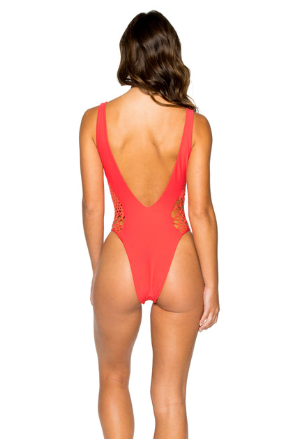 LA CABAÑA - High Leg Cut Out One Piece • Girl On Fire