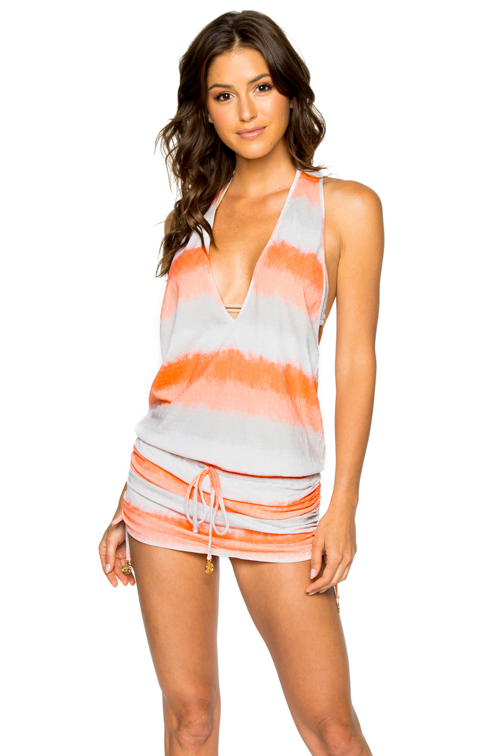 LOS FLAMENCOS - T Back Mini Dress • Multicolor