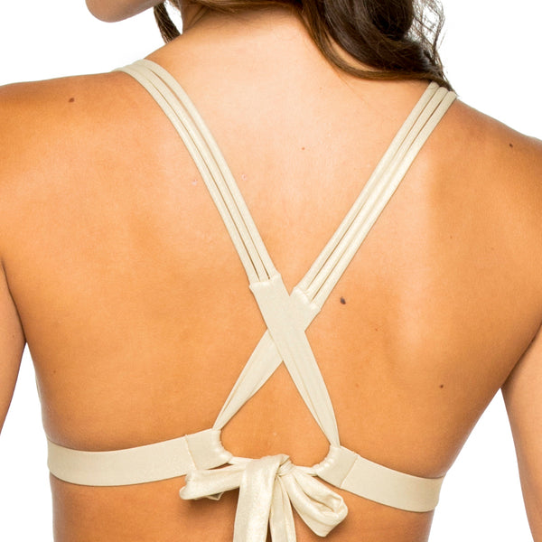 LOS FLAMENCOS - Molded Push Up Bandeau Halter Top