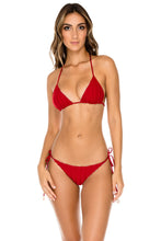 TORRE DE ORO - Triangle Top & Wavey Ruched Back Brazilian Tie Side Bottom • Torero