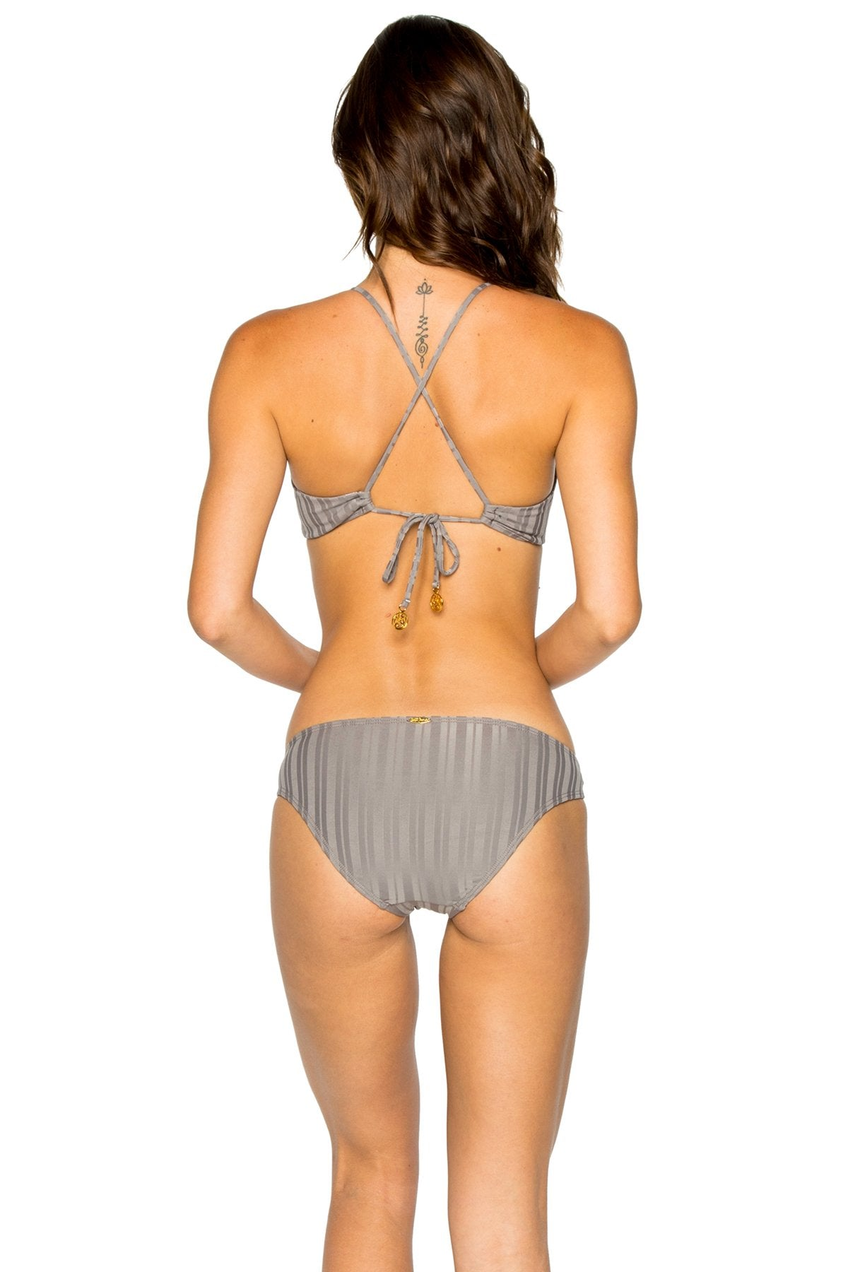 TURI TURAI - Bralette Top & Full Bottom • Grey