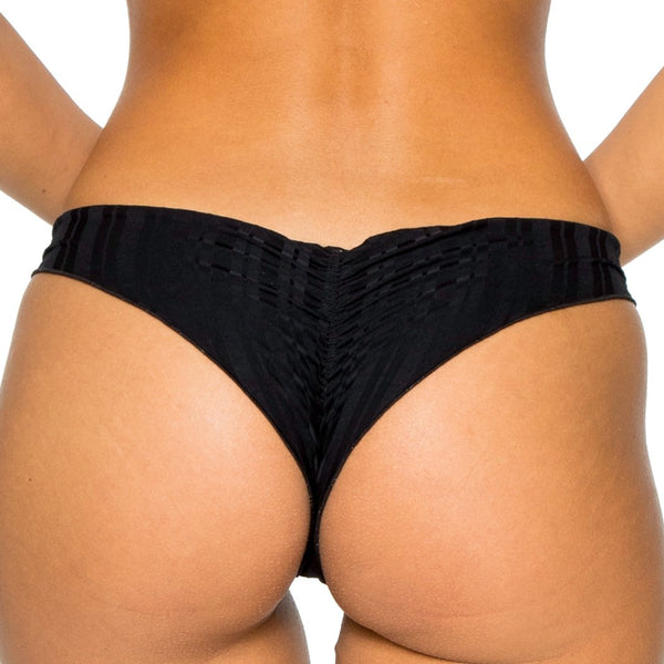 TURI TURAI - Wavey Ruched Back Brazilian Bottom