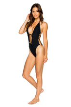 TURI TURAI - Open Side One Piece Bodysuit • Black