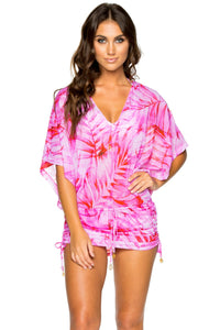 BAMBOLEO - Cabana V Neck Dress • Fuchsia