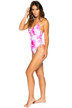 BAMBOLEO - Drawstring High Leg One Piece • Fuchsia