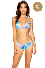 CASA DE LAS SIRENAS - Triangle Halter Top & Seamless Full Ruched Back Bottom • Multicolor
