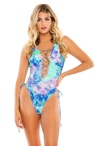 CASA DE LAS SIRENAS - Open Side One Piece Bodysuit • Multicolor