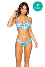 CASA DE LAS SIRENAS - Cross Back Bustier Top & Drawstring Ruched Brazilian Bottom • Multicolor