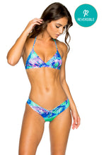 CASA DE LAS SIRENAS - Halter Top & Drawstring Ruched Brazilian Bottom • Multicolor
