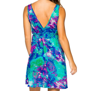 CASA DE LAS SIRENAS - V Neck Short Dress