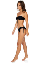 NOCHES DE SEVILLA - Bandeau Top & Drawstring Side Moderate Bottom • Black