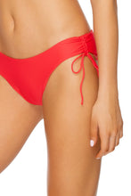 NOCHES DE SEVILLA - Bandeau Top & Drawstring Side Moderate Bottom • Rojo