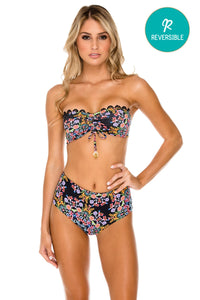NOCHES DE SEVILLA - Bandeau Top & High Rise Cheeky Bottom • Multicolor