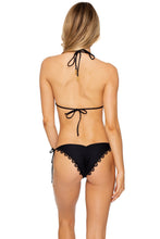 NOCHES DE SEVILLA - Triangle Top & Wavey Ruched Back Brazilian Tie Side Bottom • Black