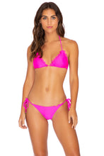 NOCHES DE SEVILLA - Triangle Top & Wavey Ruched Back Tie Side Bottom • Poppin Pink
