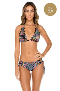 NOCHES DE SEVILLA - Triangle Halter Top & Drawstring Side Full Bottom • Multicolor (1149630808108)