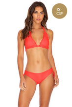 NOCHES DE SEVILLA - Triangle Halter Top & Drawstring Side Moderate Bottom • Flamingo