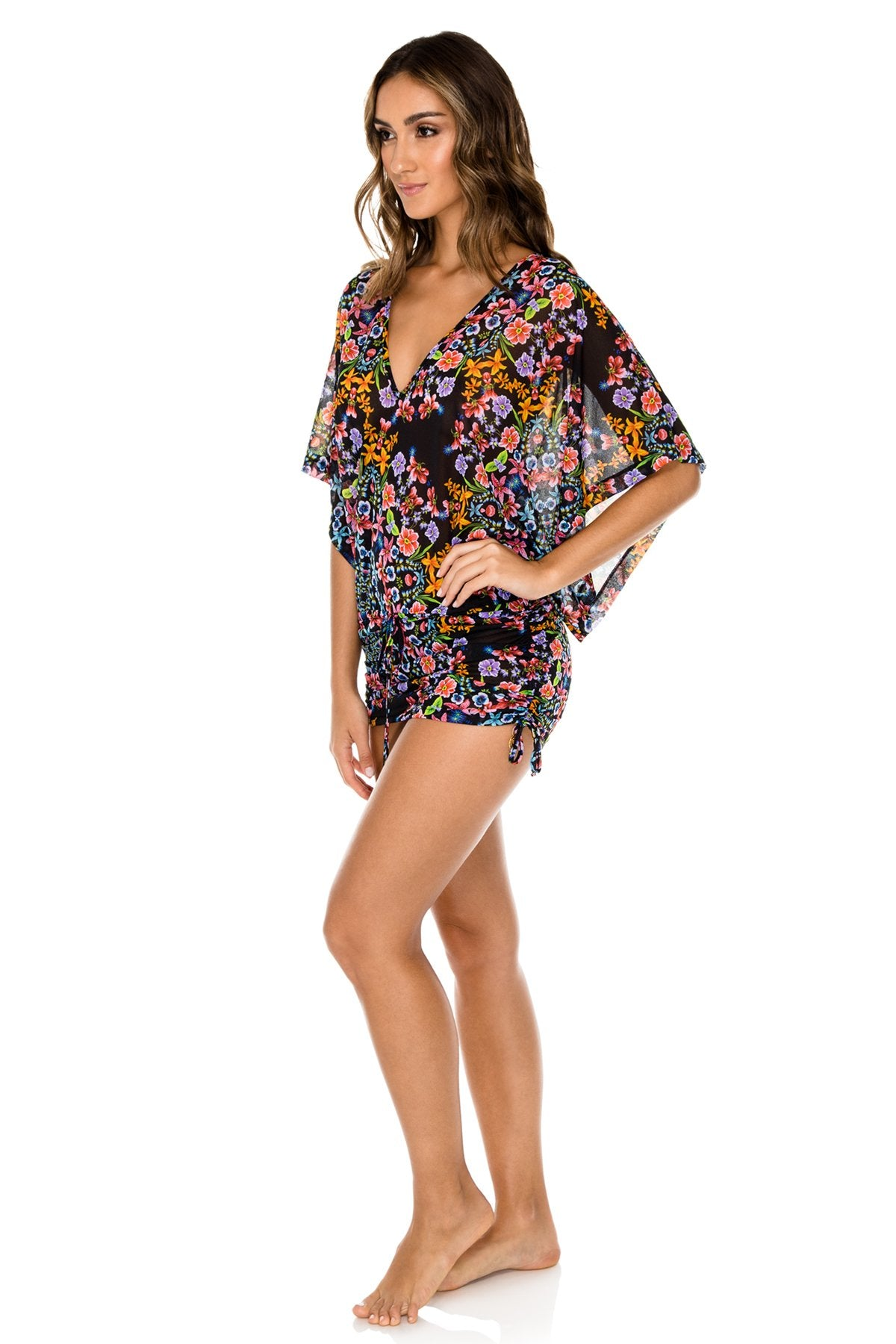 NOCHES DE SEVILLA - Cabana V Neck Dress • Multicolor