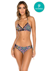 NOCHES DE SEVILLA - Halter Top & Drawstring Side Moderate Bottom • Multicolor (1149630840876)