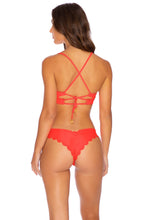 NOCHES DE SEVILLA - Underwire Top & Seamless Wavey Ruched Back Bottom • Flamingo