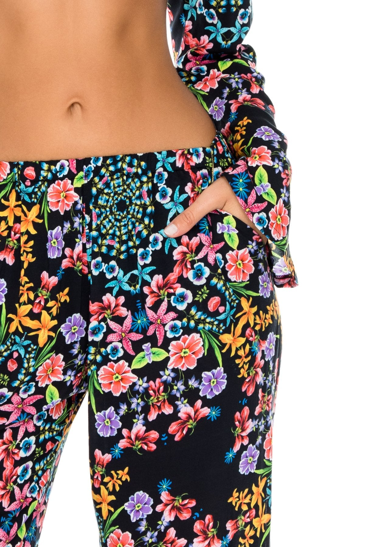 NOCHES DE SEVILLA - Tropicana Shoulder Top & Split Side Wide Leg Pant • Multicolor