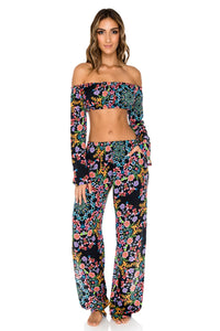 NOCHES DE SEVILLA - Tropicana Shoulder Top & Split Side Wide Leg Pant • Multicolor (1149631135788)
