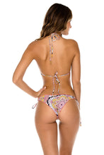 ALHAMBRA - Triangle Top & Wavey Ruched Back Brazilian Tie Side Bottom • Coral