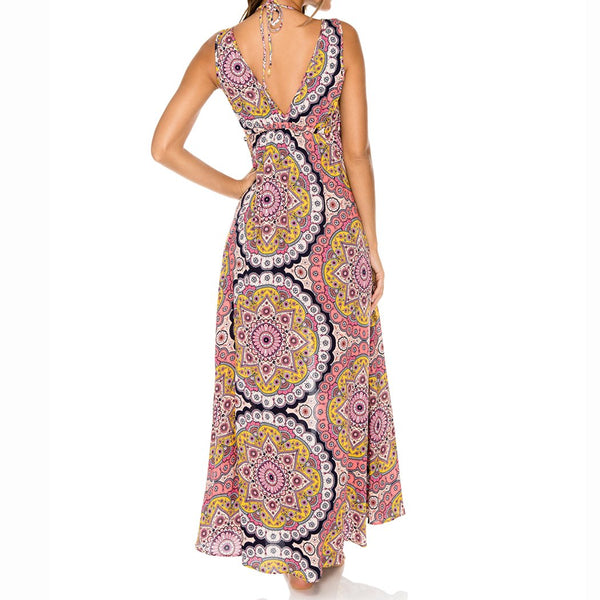 ALHAMBRA - V Neck Long Dress