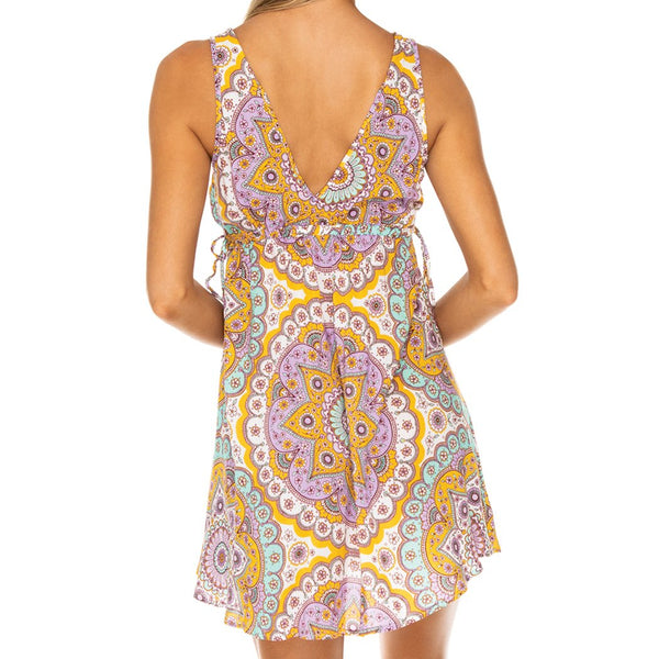 ALHAMBRA - V Neck Short Dress