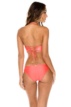 AMOR Y MIEL - Cut Out Underwire Top & Full Bottom • Coral