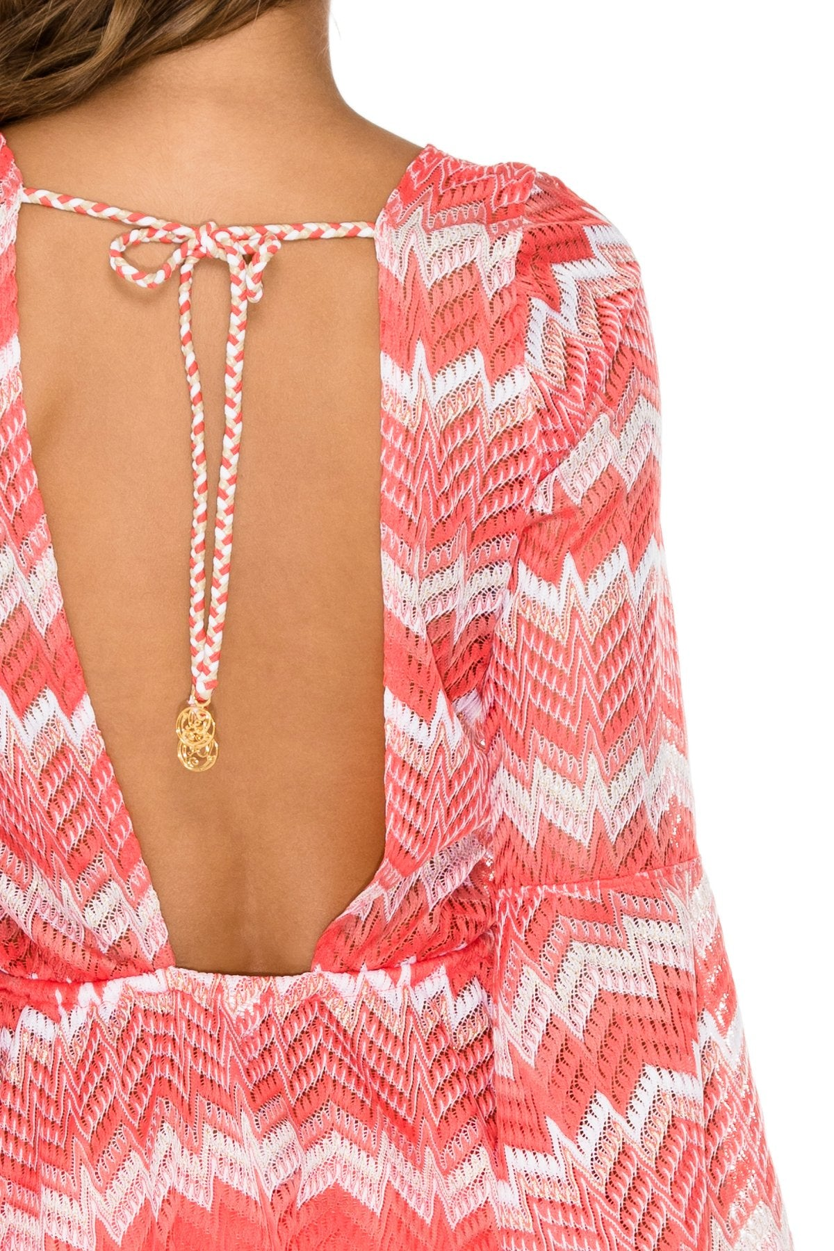 AMOR Y MIEL - Bell Sleeve Dress • Coral