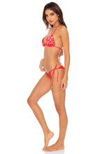CORAZON DE SEDA - Triangle Top & Wavey Ruched Back Tie Side Bottom • Scarlet
