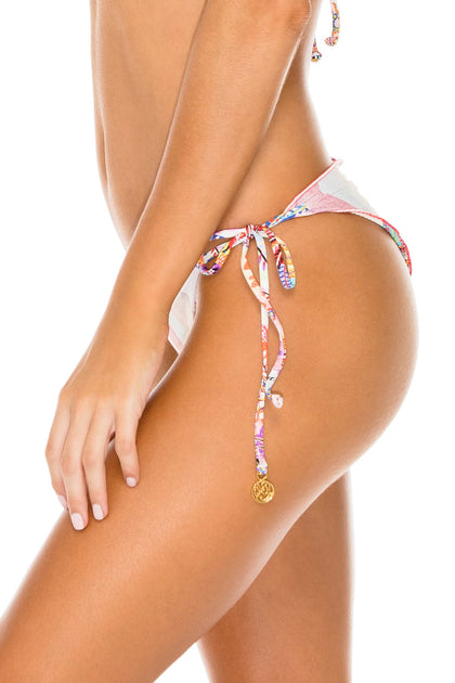 ALCAZAR - Triangle Top & Wavey Ruched Back Brazilian Tie Side Bottom • Multicolor