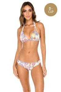 ALCAZAR - Triangle Halter Top & Full Bottom • Multicolor