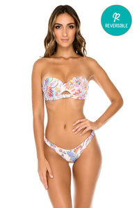 ALCAZAR - Underwire Bandeau Top & High Leg Brazilian Bottom • Multicolor
