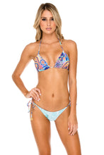 WAPISIMA - Triangle Top & Wavey Ruched Back Brazilian Tie Side Bottom • Multicolor