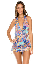 WAPISIMA - T Back Mini Dress • Multicolor