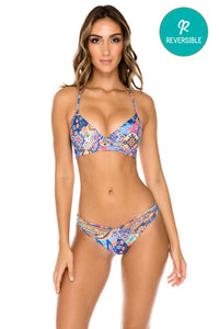 WAPISIMA - Underwire Top & Paraiso Brazilian Bottom • Multicolor