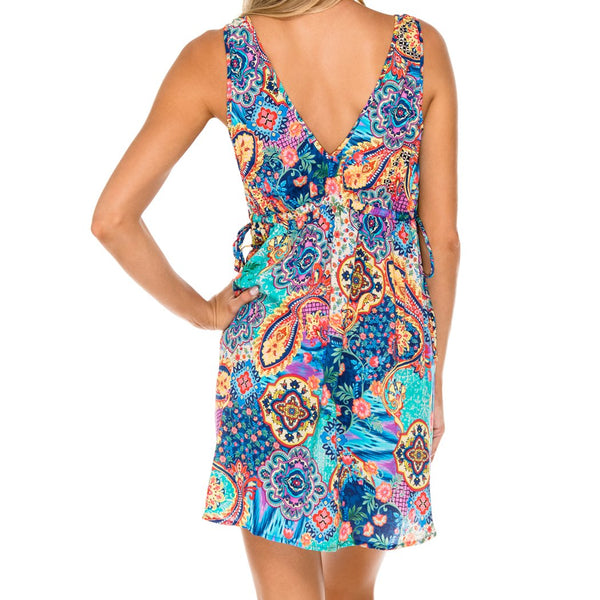 WAPISIMA - V Neck Short Dress