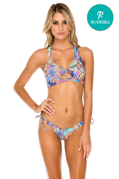 WAPISIMA - Bralette Top & Banded Moderate Bottom • Multicolor