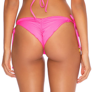 TRIANA SUMMER - Wavey Ruched Back Brazilian Tie Side Bottom
