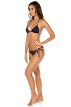 TRIANA - Triangle Top & Wavey Ruched Back Brazilian Tie Side Bottom • Black